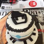 Piano Cake delivered to the offices of International Piano Magazine
